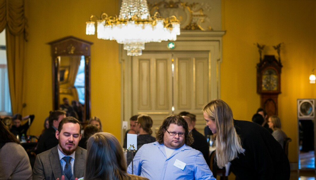 Mange kjente studentledere på toppmøte. Jone Trovåg er internajsonal leder i Norsk studentorganisasjon. (NSO). Foto: Siri Øverland Eriksen