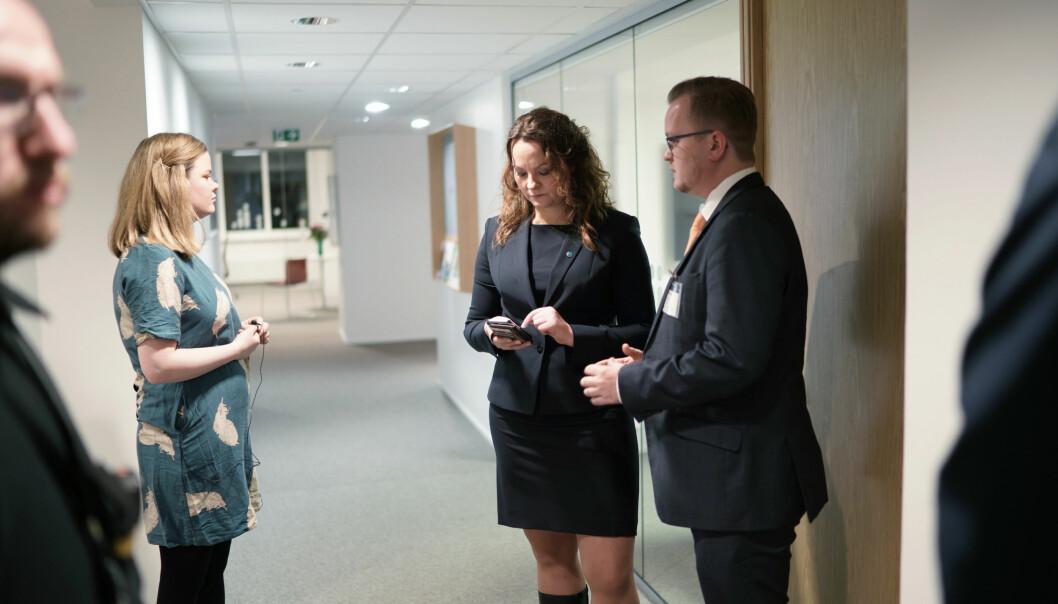 Statssekretær Rebekka Borsch forsvarer stipendomleggingen. Foto: Ketil Blom Haugstulen
