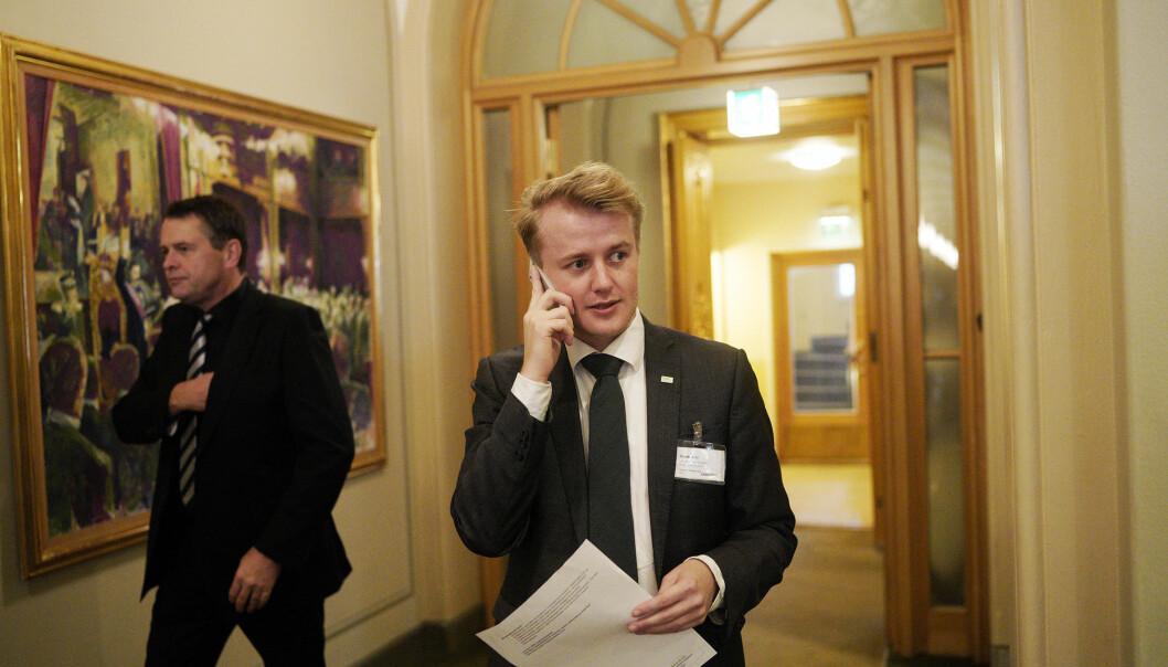 NSO-leder Håkon Randgaard Mikalsen. Foto: Ketil Blom Haugstulen