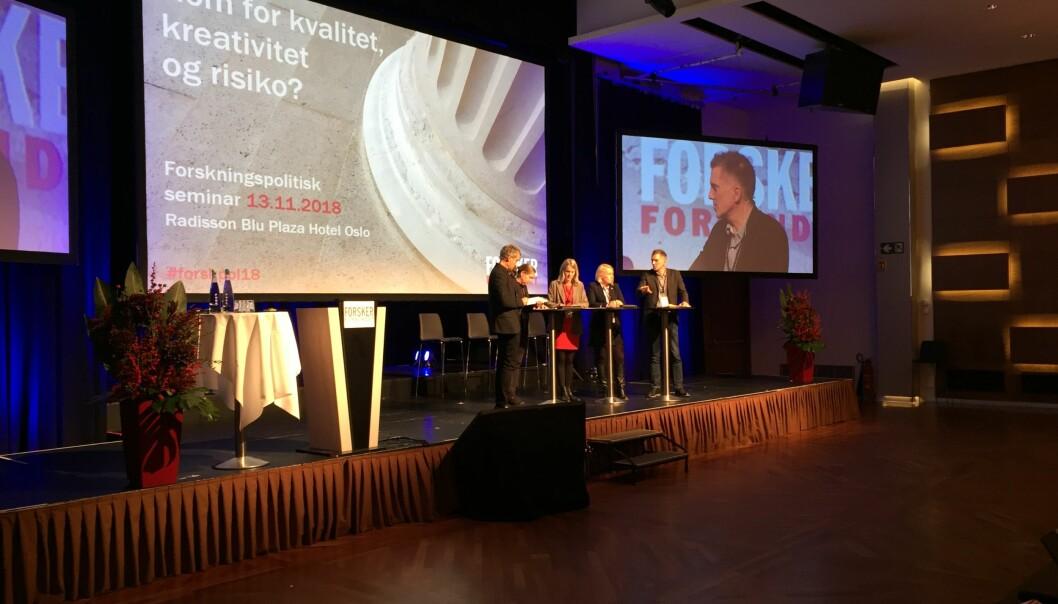 Paneldebatt hos Forskerforbundet.