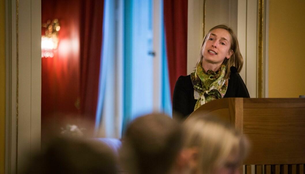 Statsråd Iselin Nybø ble grillet av opposisjonen om stipendomleggingen i Stortingets spørretime. Foto: Siri Øverland Eriksen