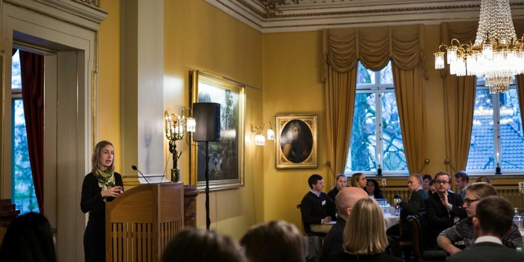 Iselin Nybø møtte ledere for alle landets studentdemokratier i starten av november. Foto: Siri Øverland Eriksen
