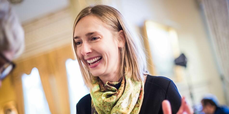 Grunn til å smile: Statsråd Iselin Nybø. Foto: Siri Øverland Eriksen