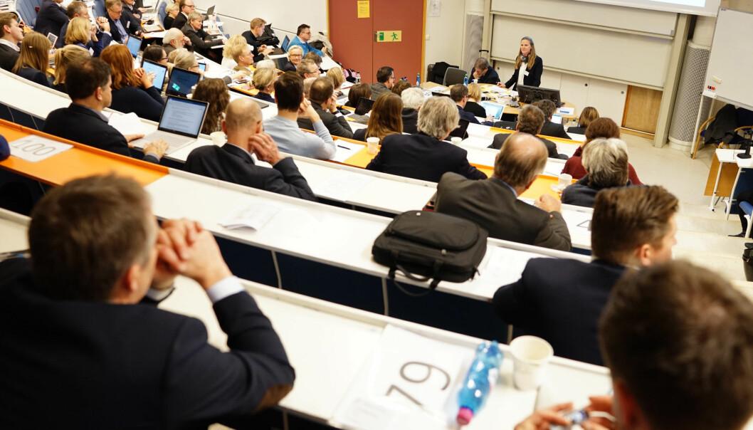 Representantskapet ved UHR på Lillehammer i november i fjor. Der opprettet de en felles arbeidsgruppe mot seksuell trakassering og mobbing . Foto: Ketil Blom Haugstulen