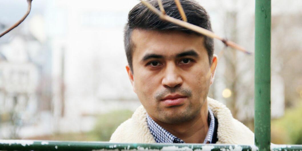 — Eg kallar det konsentrasjonsleirar, seier Adiljan Abdurihim i Den norske uighurkomiten om interneringa av uigurar i Xinjiang-provinsen i Kina. Det bur omlag 2500 uigurar i Noreg. Foto: Njord V. Svendsen