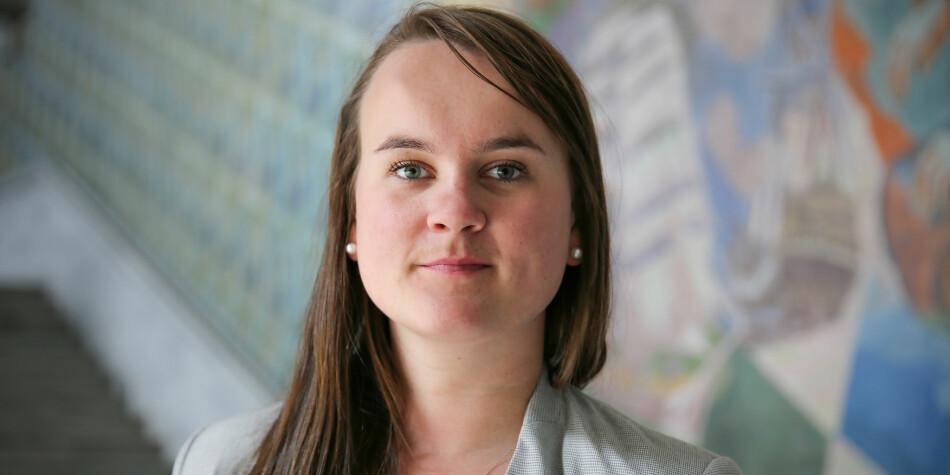 Senterpartiets Marit Knudsdatter Strand er blant dei som er kritiske til opptaks-forslaget til Marianne Synnes Emblemsvåg (H). Foto: Ragne B. Lysaker, Senterpartiet