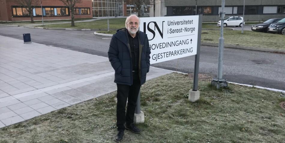Rektor Petter Aasen, Universitetet i Sørøst-Norge, på styremøte i Porsgrunn. Foto: Eva Tønnessen