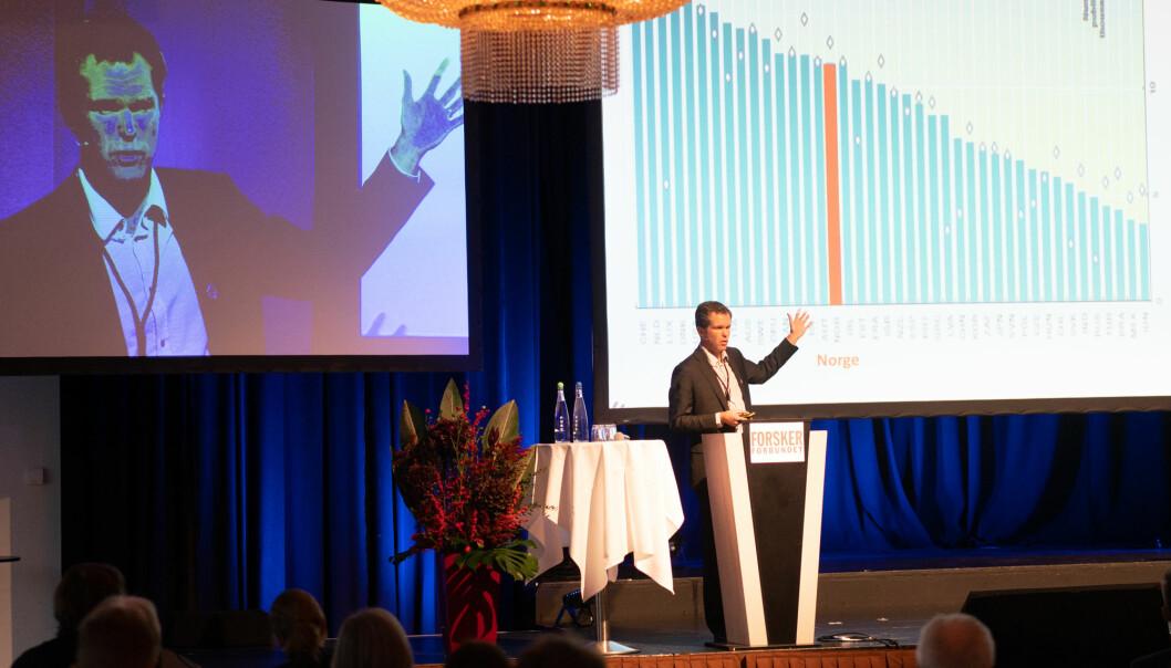 Forskningsrådets direktør, John-Arne Røttingen, skal på turne og diskutere og forsvare Plan S og forslag til implementering. Foto: Ketil Blom Haugstulen