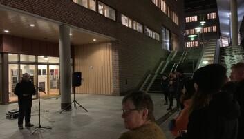Markering mot stipendomlegging ved UiT. Foto: Privat