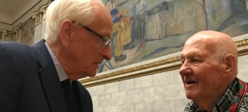 Sterkt gjensyn i aulaen 75 år etter at nazistene stengte universitetet