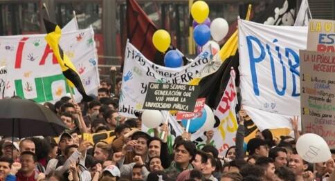 Full støtte til studentene i Colombia