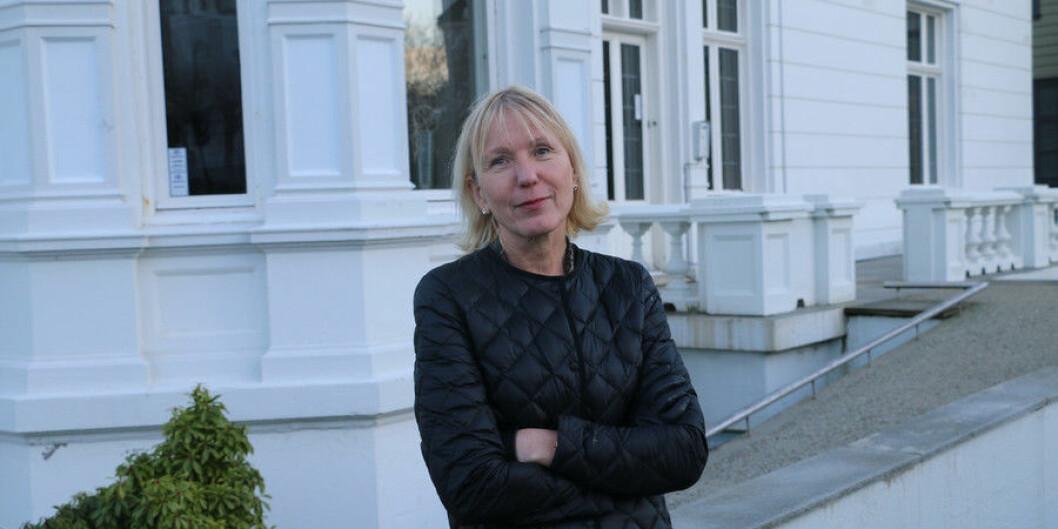 Rektoratene ved universitetene i Bergen, Trondheim, Tromsø og Oslo stiller seg bak at avtalen med forlaget Elsevier ikke blir forlenget, her representert ved prorektor i Bergen, Margareth Hagen. Foto: Hilde Kristin Strand