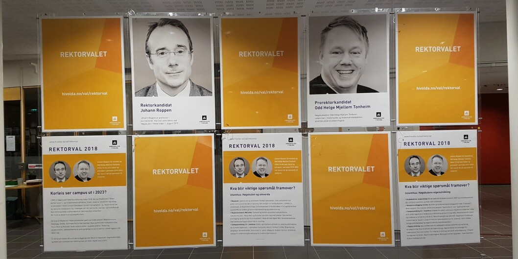 Rektorvalet er avgjort i Volda, med ein kandidat, men no skal det veljast og oppnemnast styremedlemmar. Foto: HiVolda