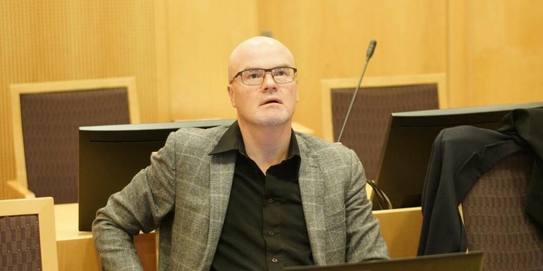 Nils Rune Langeland startet på sin forklaring i tingretten mandag 10. desember. Forklaringen fortsetter tirsdag. Foto: Ketil Blom Haugstulen