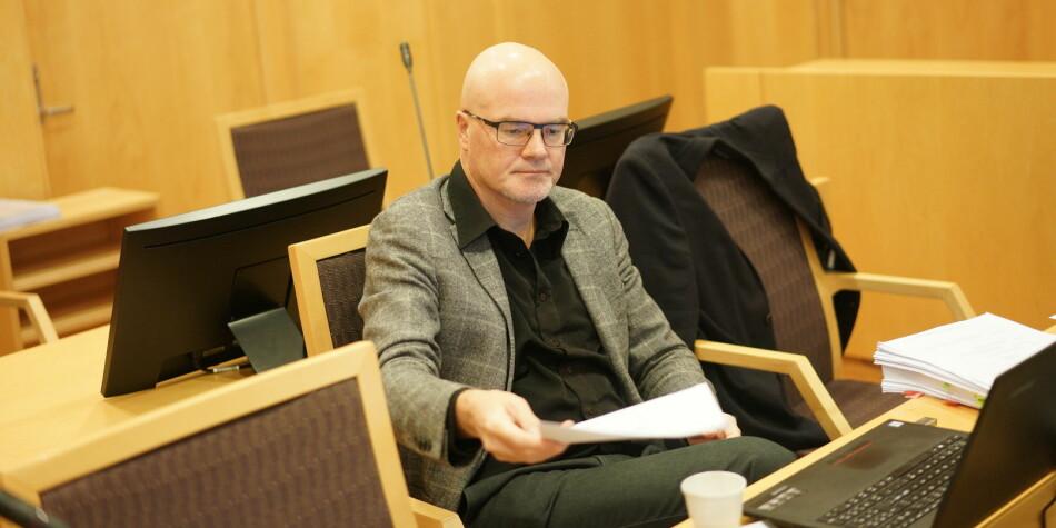Nils Rune Langeland ble spurt blant annet om sitt forhold til Facebook og til diverse seksuelle uttrykk i retten tirsdag. Foto: Ketil Blom Haugstulen