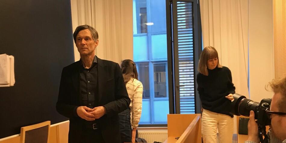 Instituttleder Odd Magne Bakke ved Universitetet i Stavanger vitnet under rettssaken mot Nils Rune Langeland onsdag. — Jeg er usikker på om han virkelig har forstått alvoret, sa han. Foto: Tove Lie
