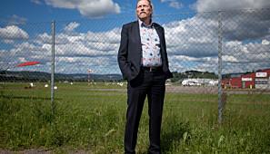 Professor Gunnar H. Gundersen ved OsloMet foreslo i 2016 å flytte hele universitetet til flyplassen på Kjeller, som er under nedlegging. Foto: Nicklas Knudsen