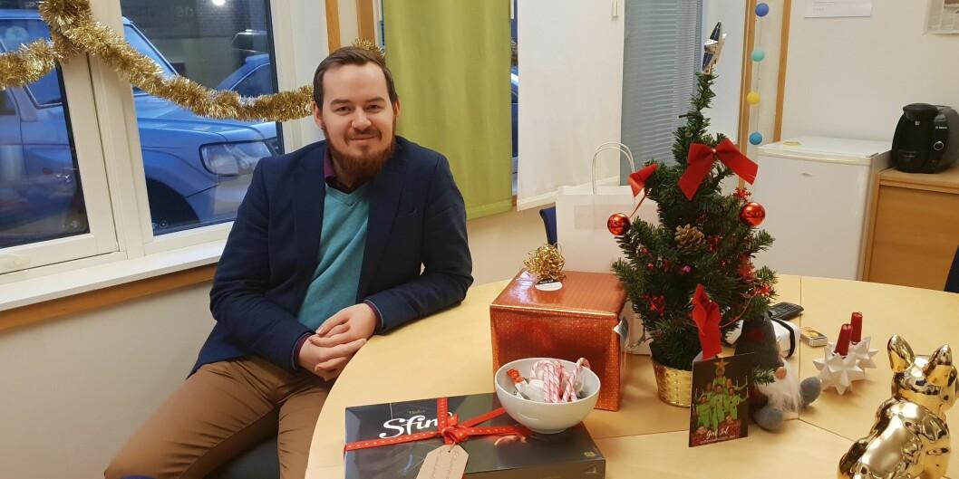 Daniel Hansen Masvik er parlamentsleder ved UiT. Foto: SP-UiT