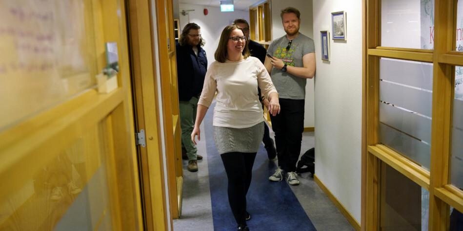 Fam Karine Heer Aas vil forstette i korridorene hos Norsk studentorgansiasjon (NSO), og stiller som lederkandidat. Foto: Ketil Blom Haugstulen
