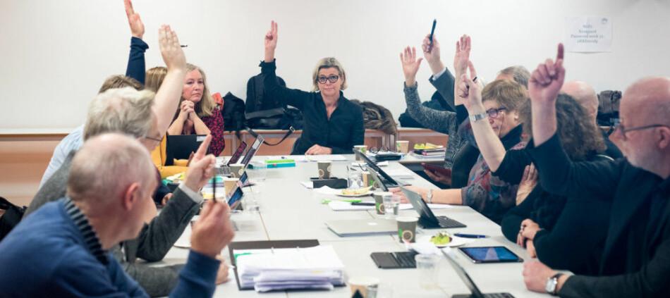 Her vedtar daværende styre ved Høgskolen i Oslo og Akershus (HiOA) i 2014 ansatt rektor og ekstern styreleder med 10 mot 1 stemme. Foto: Skjalg Bøhmer Vold