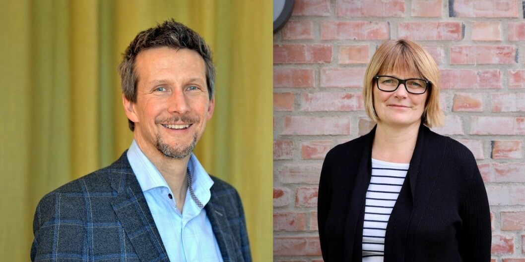 Stephen Seiler og Sunniva Whittaker er de to kandidatene som vil bli rektor ved UiA. Foto: UiA