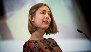 Statsråd Iselin Nybø vil ha mer fart på pengebruken i universitets- og høgskolesektoren. Foto: Siri Øverland Eriksen