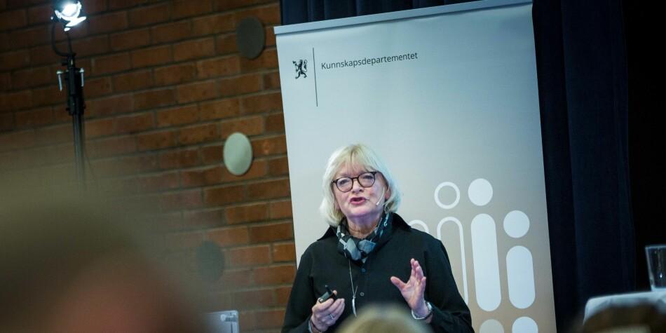 Berit Rokne er rektor ved Høgskulen på Vestlandet, og bør anerkjenne egne fagmiljøer i større grad, mener Torstein Dahle. Foto: Siri Øverland Eriksen