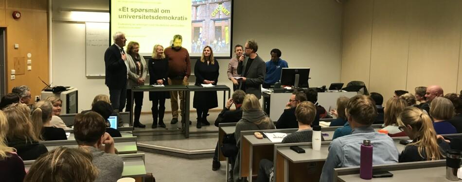 Panelet sammen med forskningsleder på NIBR, Geir Heierstad. Foto: Eva Tønnessen