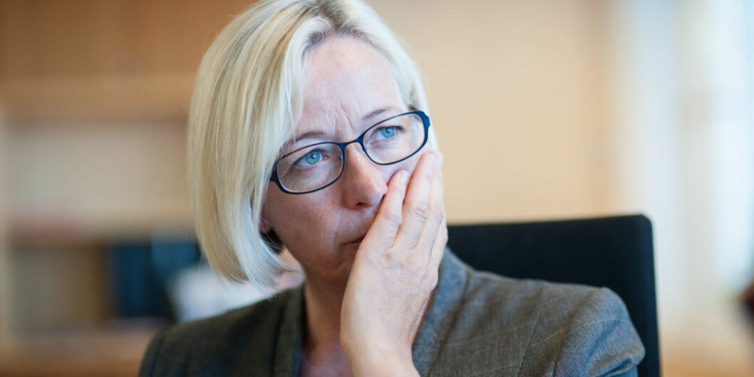 Marit Arnstad, Senterpartiet, er bekymret for konsekvensene av strukturreformen, særlig grad eksemplifisert med situasjonen ved Nord universitet. Foto: Ketil Blom Haugstulen
