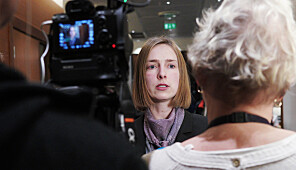 Iselin Nybø møtte styret ved Nord universitet på deres styremøte på Værnes 11. januar 2019. Foto: Ketil Blom Haugstulen