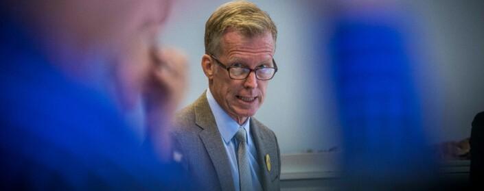 Rektor Curt Rice søker styret for OsloMet på nytt om støtte til advokatbistand på nesten 100.000 kroner. Foto: Siri Øverland Eriksen