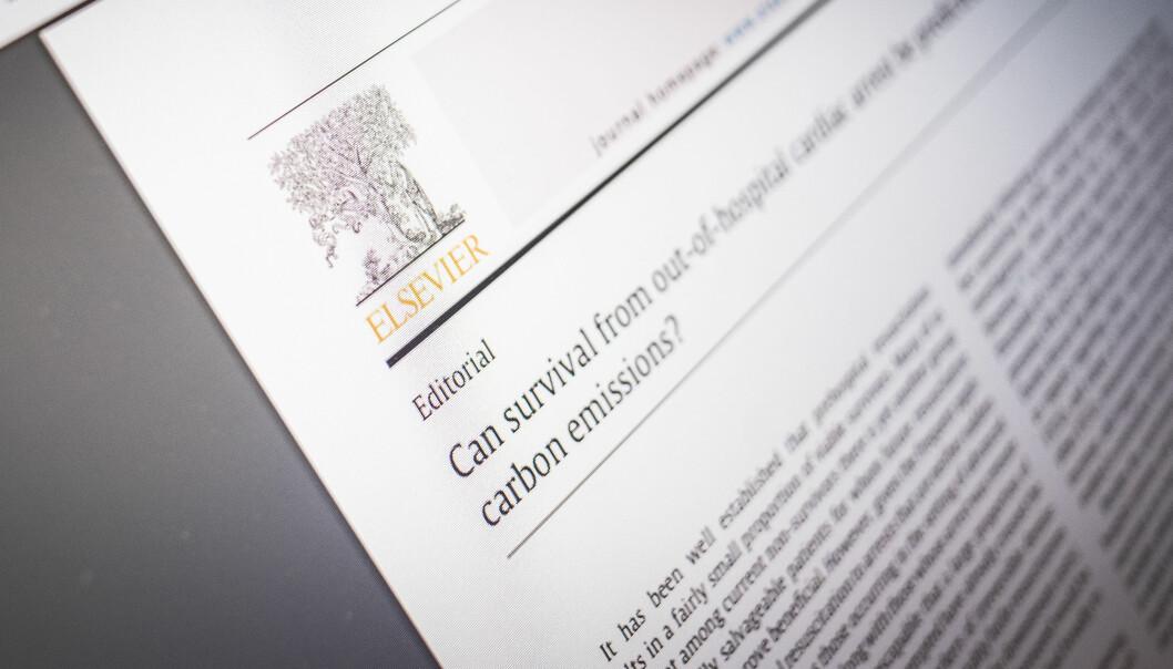 Elsevier er et av forlagene som har undertegnet et brev der de advarer mot endring av amerikansk politikk. Foto: Torkjell Trædal