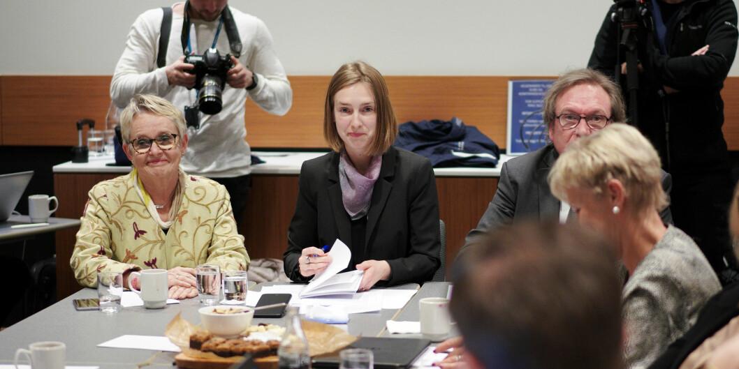 Forsknings- og høyere utdanningsminister Iselin Nybø på styremøtet ved Nord universitet i januar 2019. Foto: Ketil Blom Haugstulen