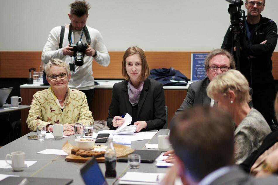 Forsknings- og høyere utdanningsminister Iselin Nybø på styremøtet ved Nord universitet i januar. Foto: Ketil Blom Haugstulen