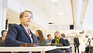 Instituttstyreleder Siri Forsmo før møtestart. Foto: Torkjell Trædal