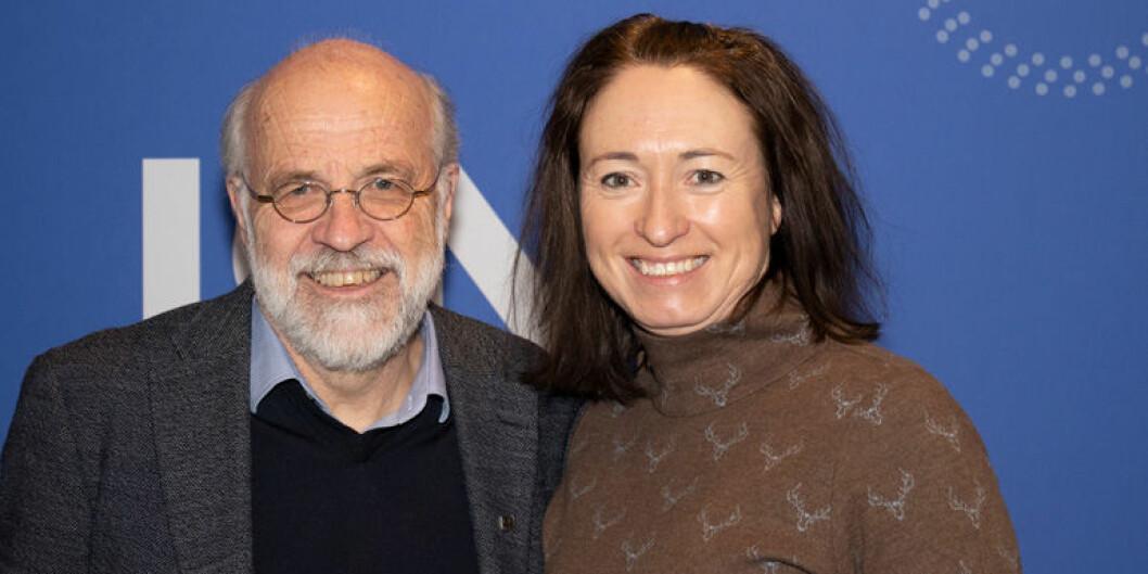 Rektor Petter Aasen sammen med påtroppende kommunikasjonsdirektør, Reidun Mangrud. Foto: USN