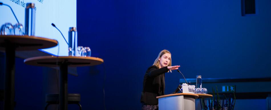 Iselin Nybø får pepper fordi Stortinget stemte ned forslag om nasjonal konsekvensutredning av Plan S. Nybø mener dette arbeidet må gjøres på internasjonalt nivå. Foto: Siri Øverland Eriksen