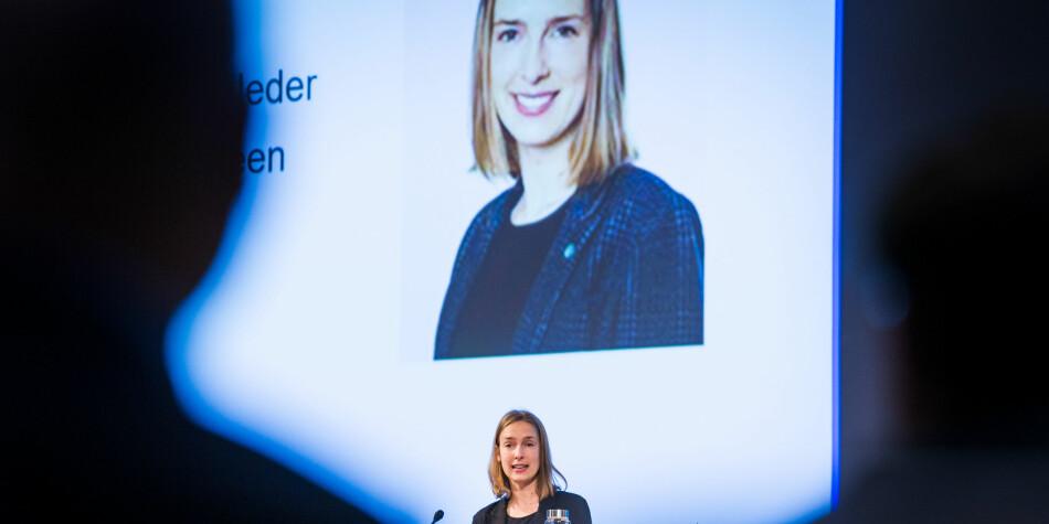 Forsknings- og høyere utdanningsminister Iselin Nybø forventer at næringslivet bidrar mer til forskning. Foto: Siri Øverland Eriksen