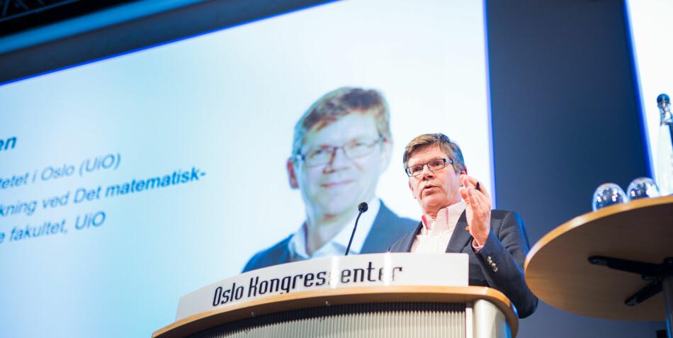 Rektor Svein Stølen presenterer helt nye retningslinjer mot trakassering for sitt styre tirsdag 12. mars. Foto: Siri Øverland Eriksen