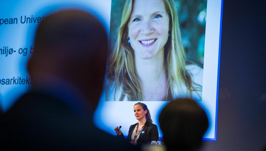 Mari Sundli Tveit slutter før rektorperioden hennes er over ved NMBU. 11 ønsker å overta jobben hennes. Foto: Siri Øverland Eriksen
