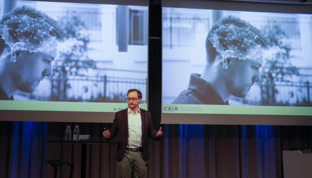 Ifølge Morten Goodwin, assisterende direktør ved House of Cair, har kunstig intelligens allerede forandret samfunnet på mange måter. Foto: Sissel Eikeland, UiA