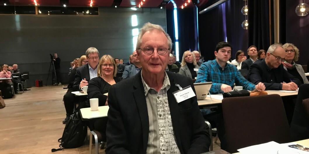 Steinar Stjernø på plass på strukturkonferansen i Trondheim. Foto: Tove Lie