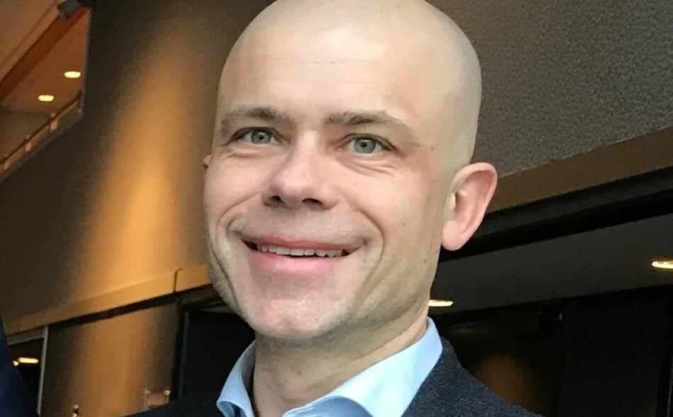 Fungerende rektor Lars-Petter Jelsness-Jørgensen ved Høgskolen i Østfold stiller til valg som ny rektor. Foto: Tove Lie