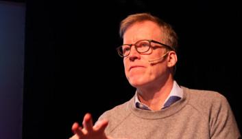 Curt Rice under debatten fredag morgen. Foto: Torkjell Trædal