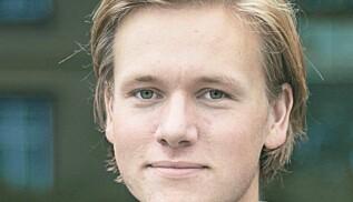 Sondre Hansmark Persen, leder i Unge Venstre, synes det er deprimerende med usynlige venstrestatsråder. Foto: Venstre
