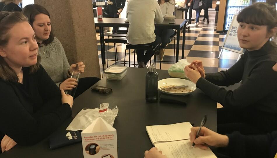 Lærerstudenter, OsloMet, Charlotte Leirvik (25), Martha Bakksaas (25) og Elise Tørring (24). Foto: Eva Tønnessen