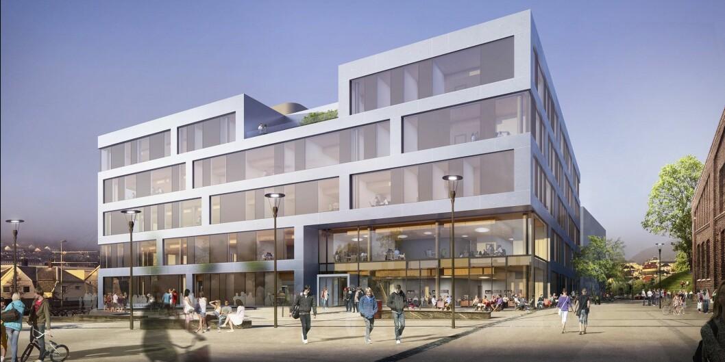Slik skal det bli: Nybygget på Kronstad i Bergen. Foto: L2 Arkitekter/HVL