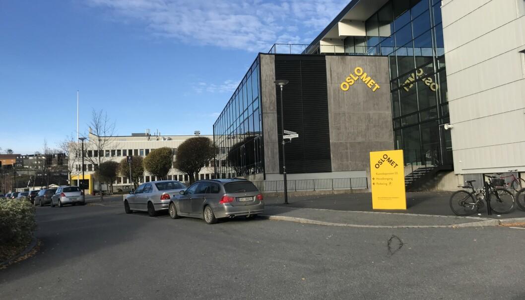 OsloMet sitt campus på Kjeller huser rundt 200 ansatte og 3000 studenter. Foto: Eva Tønnessen