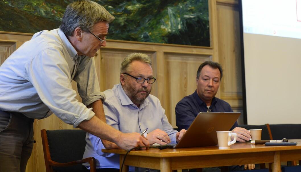 Ståle Einarsen og samarbeidspartner og advokat Harald Pedersen. De to foreleser og har gjennomført faktaundersøkelser.