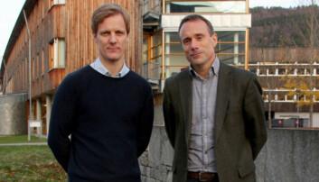 Her er nyvald prorektor Jens Standal Groven og rektor Johann Roppen i Volda 2015. Pressefoto: Anne Karene Rasmussen